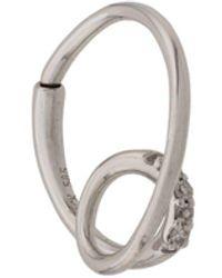 Maria Black 14kt White Gold Acrobat Diamond Hoop Earring