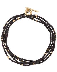 M. Cohen Beaded Wrap Bracelet - Black