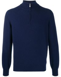 Brunello Cucinelli Half-zip Jumper - Blue