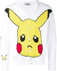 Gcds 'Pikachu' Intarsien-Cardigan - Weiß