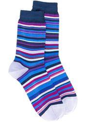 Paul Smith ストライプ 靴下 - ブルー