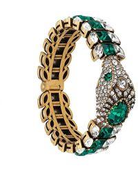 Gucci Snake crystal bracelet - Verde