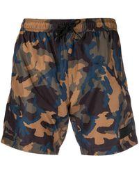 Dondup Camouflage-print Swim Shorts - Blue
