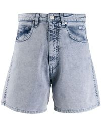 MSGM Washed Out Shorts - Blue