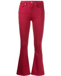 Dondup Kick Flare Trousers - Red