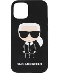 Karl Lagerfeld Ikonik Iphone 12 ケース - ブラック