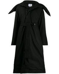 Y-3 オーバーサイズカラー コート - ブラック