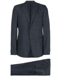 Z Zegna - Checked Two Piece Suit - Lyst