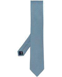Ferragamo Cravatta con stampa - Blu