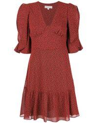MICHAEL Michael Kors - Flared V-neck Dress - Lyst