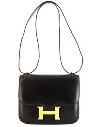 Hermès 1993 プレオウンド コンスタンス ショルダーバッグ ミニ - ブラック