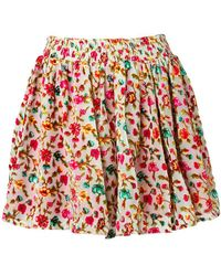 Mes Demoiselles - Floral Print Short Skirt - Lyst