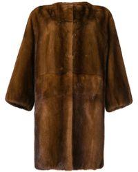 P.A.R.O.S.H. - Oversized Fur Coat - Lyst