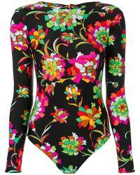 LaDoubleJ Long-sleeved Backless Surf Suit - Black