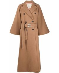 Elie Saab Double-breasted Maxi Coat - Brown