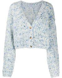 McQ Marled-knit Cardigan - Blue