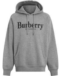 Burberry - Embroidered Logo Hoodie - Lyst