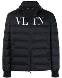 Valentino Vltn ロゴ ダウンジャケット - ブラック