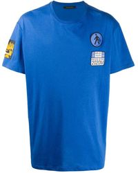 Mr & Mrs Italy Patchwork Short-sleeve T-shirt - Blue