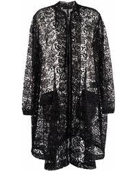BARBARA BOLOGNA Abrigo semitransparente de encaje - Negro