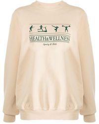 Sporty & Rich Health & Wellness スウェットシャツ - ナチュラル