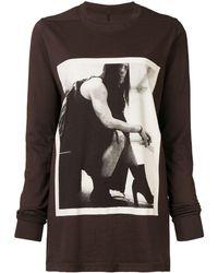 Rick Owens Drkshdw - ロングtシャツ - Lyst