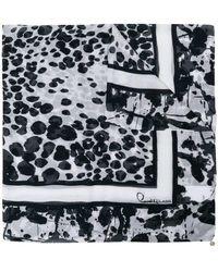 Class Roberto Cavalli - Paint Splatter Print Scarf - Lyst