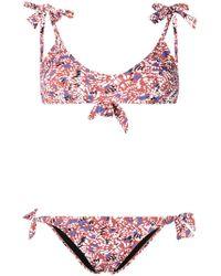 Emmanuela Swimwear - Lulu Print Bow Tie Bikini - Lyst