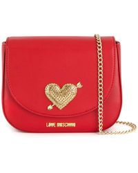 c08a9dee655 Lyst - Love Moschino Phoebe Pink Mini Heart Cross-body Bag in Pink