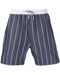 Brunello Cucinelli Striped Swim Shorts - Blue