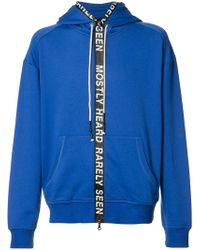 plaid zipped neck hoodie - Blue Mostly Heard Rarely Seen Cheap Sale Eastbay yqDnV
