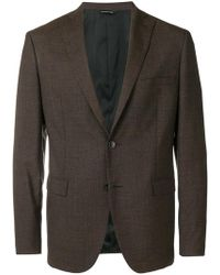 Tonello - Micro Pattern Single-breasted Blazer - Lyst