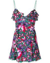 La Perla - Ruffle Trim Printed Dress - Lyst