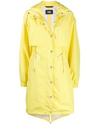 Karl Lagerfeld Logo Waterproof Anorak - Yellow