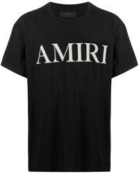 Amiri ロゴプリント コットンtシャツ - ブラック
