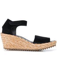 Pedro Garcia Fandras 65mm Wedge Sandals - Black