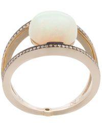 Noor Fares Opal Rhombus Ring - Metallic