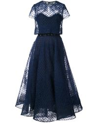 Marchesa notte - Tulle Layered Dress - Lyst