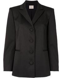 Khaite Joan Button Up Blazer - Black
