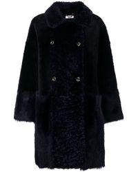 Desa - Double Breasted Fur Coat - Lyst
