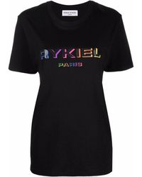 Sonia Rykiel Logo Lettering T-shirt - Black