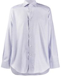 Canali Houndstooth embroidered shirt - Weiß