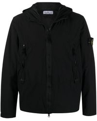 Stone Island Куртка На Молнии - Черный