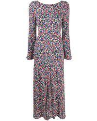 RIXO London プリント ドレス - ブルー