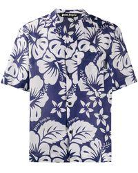 Palm Angels Hawaiiaans Overhemd - Blauw