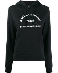 Karl Lagerfeld アドレスロゴパーカー - ブラック