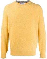 Brunello Cucinelli Ribbed Cashmere Sweater - Yellow