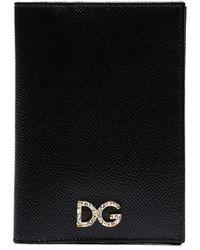 Dolce & Gabbana Étui de passeport à logo - Noir
