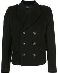 Amiri Double Breasted Short Coat - ブラック