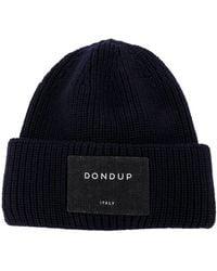 Dondup リブニット ビーニー - ブルー